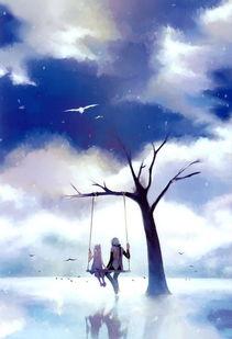 心中的天堂 唯美意境小清新动漫插画