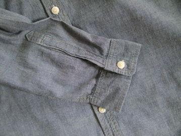 ...修身牛仔衣长袖衬衫休闲衬衣