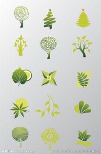 手绘树设计图片