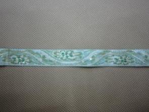 淡青色带花纹1CM规格花边带