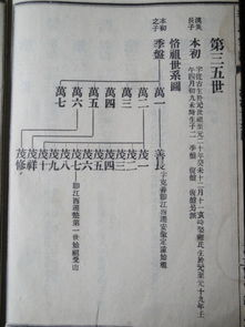 此图为《李氏宗谱--唐