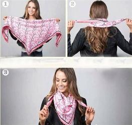 丝巾的系法图解和各种围法 简单易学百变造型