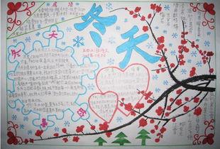 关于雪的手抄报图片-关于雪花的手抄报设计 冬雪