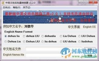 中英文姓名批量转换器下载 1.2.0 绿色版 河东下载站
