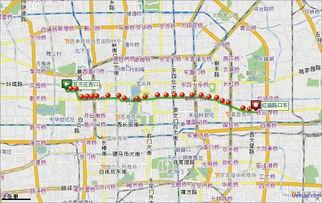 北京101路 电车 下行公交线路图