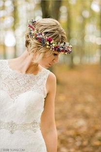 短发怎么拍婚纱照
