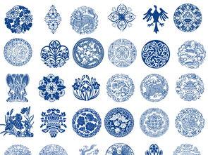 ...0款圆形青花瓷团花纹样图案矢量素材图片下载cdr素材 中国风素材