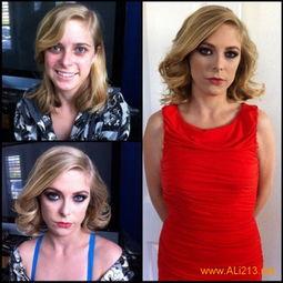 惊悚 欧美色情电影女星化妆前后对比照大曝光