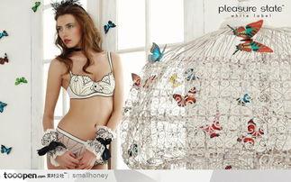 火辣辣的漂亮美女图片素材 蝴蝶飞啊内衣模特