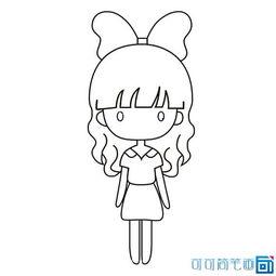 ...q版小女孩简笔画图片,简单易画的卡通人物,儿童学画的卡通可爱...