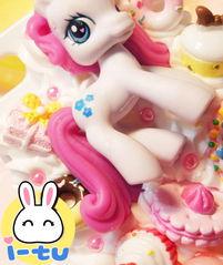 图片详情 -超萌 彩色可爱宝丽小马奶油冰淇淋蛋糕聚会 4代4s