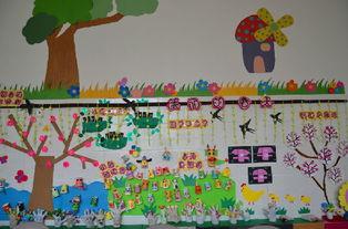 草长莺飞三月天 主题墙上花草香 记义马市市直幼儿园三月中班 主题墙 ...