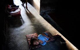 ...eSod,3岁的罗兴亚孩子努尔穆罕默德情绪低落.一年...