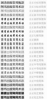 所有英汉文字查找表 对照表 经典字体设计参考 字体下载专区