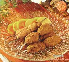 糯米腊肉藕丁煎饺的做法