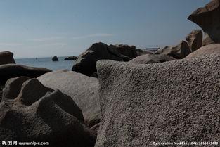 海边的石头图片