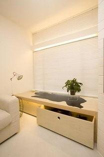 40平小户型装修案例:飘窗的台子下也可作为柜子.-40平小户型夸张...