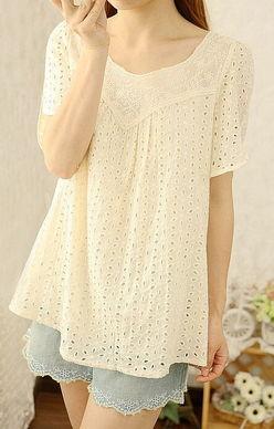 ...棉质娃娃衫罩衫074 简单网www.J.cn