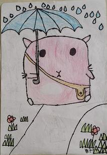 打雨伞的肥肥鼠简笔画 打雨伞的肥肥鼠图片欣赏 打雨伞的肥肥鼠儿童...