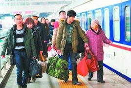 沈阳铁路局铁迎来返程客流高峰