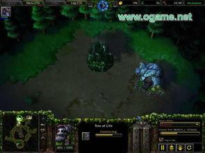 树(假定地图是Lost Temple)   召唤恶魔猎手并且使用它配合战争古树...