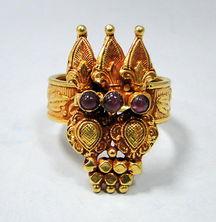 第三四零号,独特的设计,22K金美国古董戒指