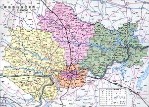 郑州市市区域划分地图-淮北市行政区划图
