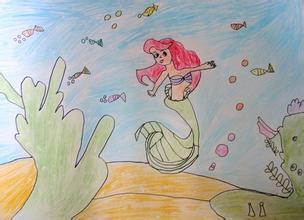 ...笔画图片教程 人鱼公主