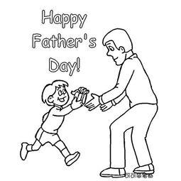 父亲节图片简笔画 父亲节快乐,人物简笔画,关于父亲节题材的简笔画...