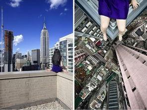 俯视城市-韩国女摄影师高楼边缘自拍 为艺术 玩命 4
