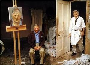 伦敦,无论作为艺术家还是普通人,弗洛伊德都被认为是难以相处的....