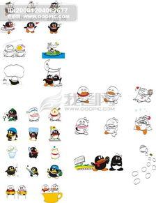 QQ宠物 ,QQ,宠物,卡通,可爱,淘气,,矢量素材,其他矢量