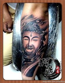 小臂佛头纹身,临沂纹身,临沂阿浩纹身,遮盖纹身,修改纹身, 山东...