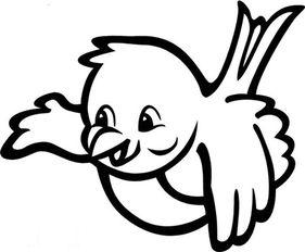 小鸟简笔画 我是一只渴望飞翔的小鸟