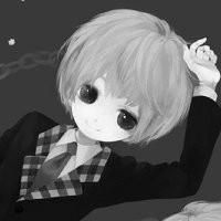 qq黑白卡通头像男生