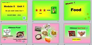 ...听说读写单词 Chinese fast food want make, some -Module 4课件 导...