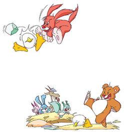中班小老鼠搬鸡蛋教案-小狗搬来了一块大石头.