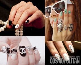 (Chanel)在指甲上画品牌LOGO和标志性图形是最容易打造出一款带有...