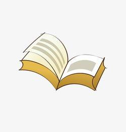 一本翻开的书素材图片免费下载 高清卡通手绘png 千库网 图片编号...