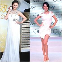 姐也色18pwwwdizhi99com-同是身着白色裙装的Olay代言照,大S与小S形成了鲜明对比,一袭白...
