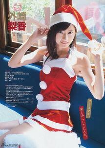 佐佐木恋海-日女星Cos性感圣诞造型谁最美 苍井空扮圣诞树