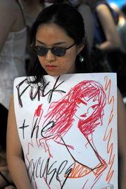 韩国举行 荡妇大游行 抗议性暴力