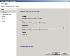 ...le SQL Firewall Ports