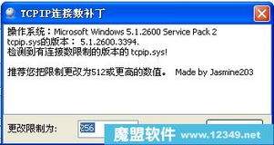 TCPIP连接数补丁修改器