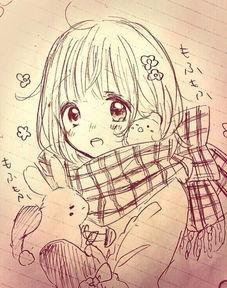 可爱动漫女生铅笔画