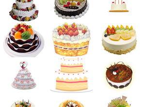 各种各式卡通生日蛋糕免抠png设计元素5