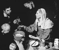 《煎鸡蛋的老妇人》,作于1618年-英国工业化以前农民的饮食革命