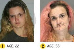 原标题:吸毒前后恐怖对比照-吸毒者呈低龄化特征 吸毒前后恐怖对比照