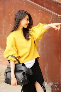 婷婷桃色网-高圆圆黄色宽松卫衣亮相-高圆圆衣Q和颜值一样高