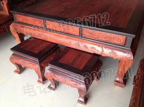 老挝大红酸枝沙发 雕百子图